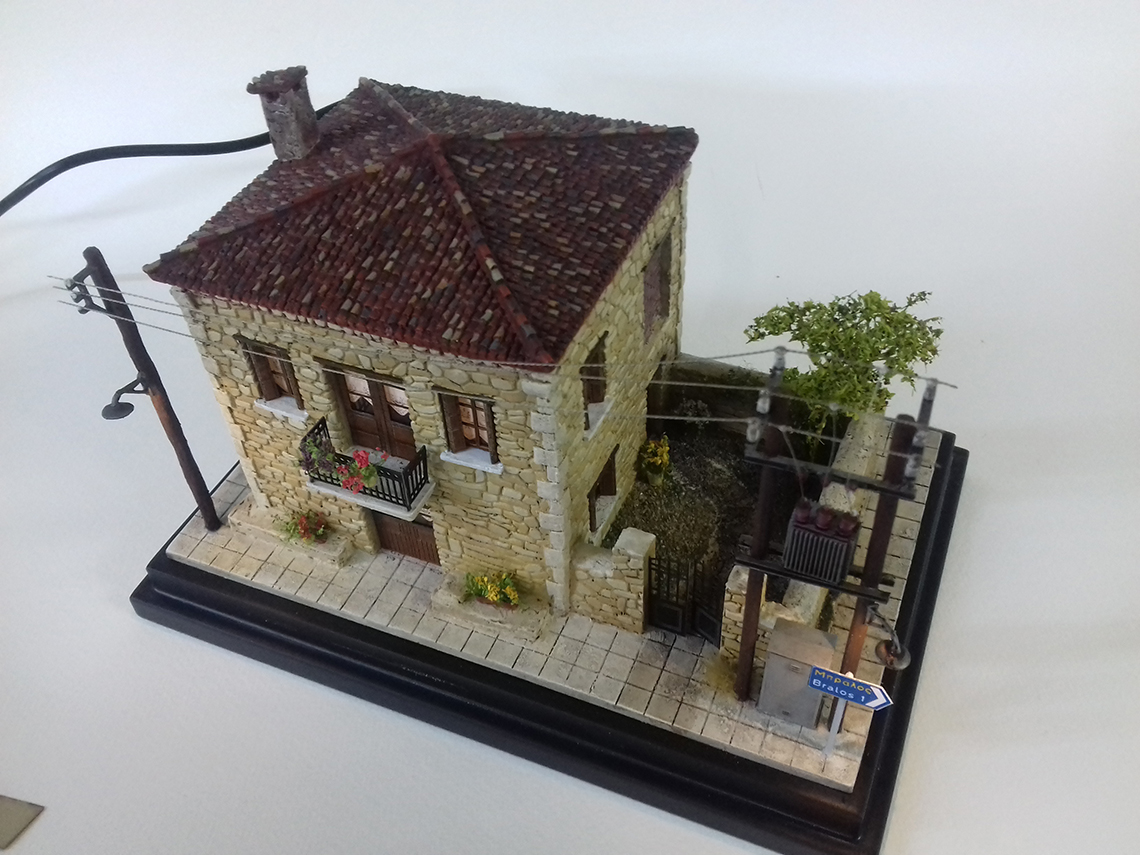 diorama greek architecture house
