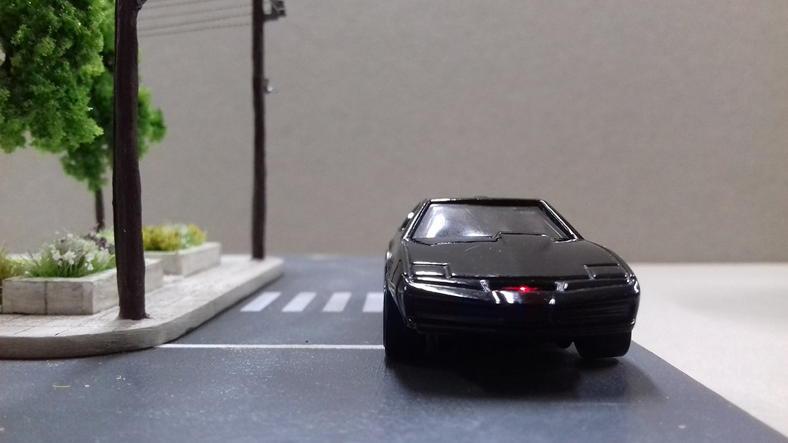 hotwheels kitt knight rider led scanner light