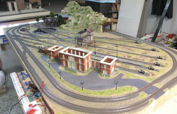 HO train layout HO model railroad μακετα τρενου
