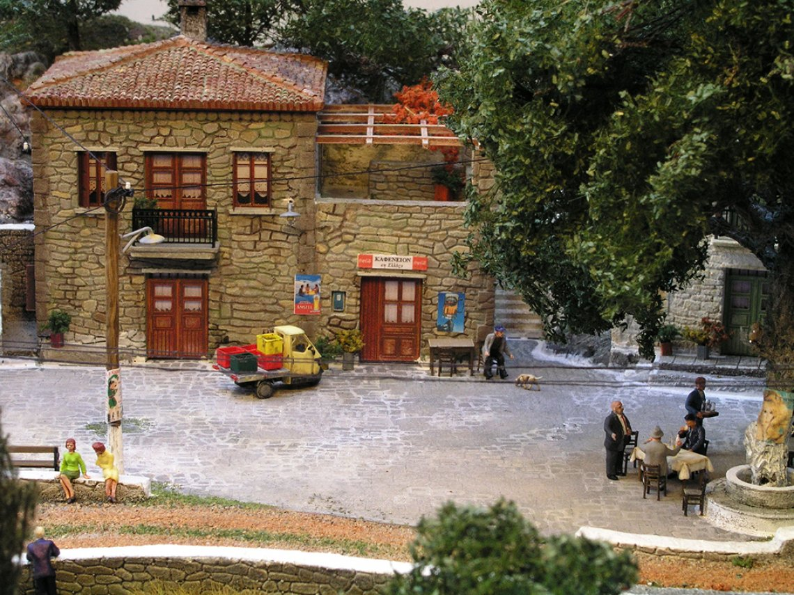 Greek Traditional Village Model