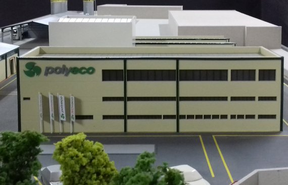 chemicals production facility architectural scale model