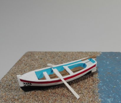 scale model greek traditional fishing boat καΐκι ψαροβαρκα παπαδια μοντελο HO